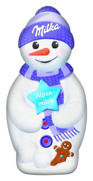 Chocolat. Snowman, 1,69€ les 50g, Milka.