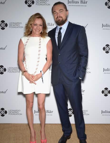 Leonardo DiCaprio et Caroline Scheufele, présidente de Chopard