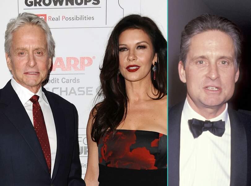 Michael Douglas aujourd'hui à 71 ans et à 46 ans, l'âge actuel de sa femme Catherine Zeta-Jones