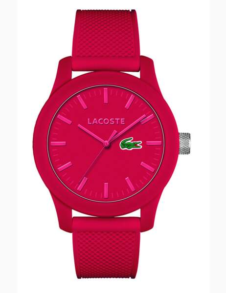 Montre en silicone rouge, collection 2014