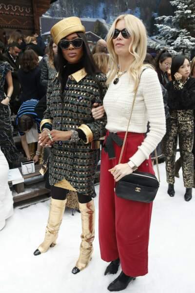 Naomie Campbell et Claudia Schiffer au défilé Chanel