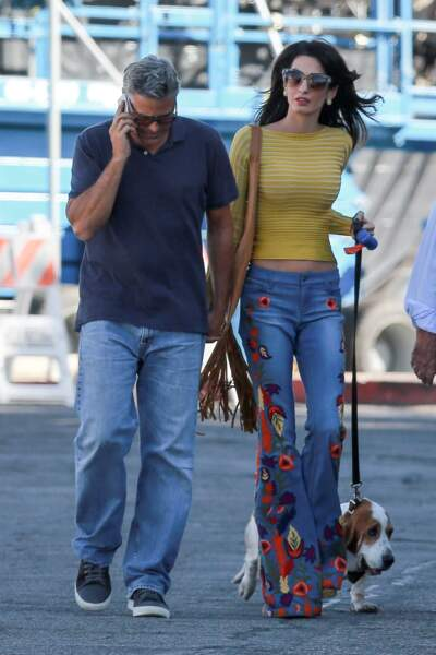 Amal et George Clooney à Los Angeles