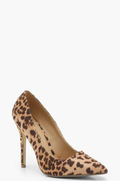 Escarpins léopards, Boohoo, 28€