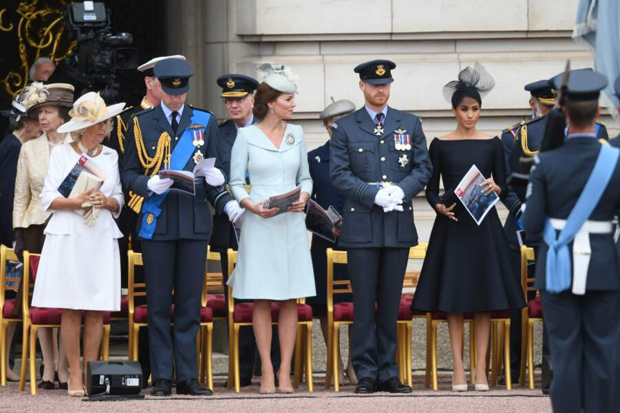 La famille royale au centenaire de la Royal Air Force, à Londres