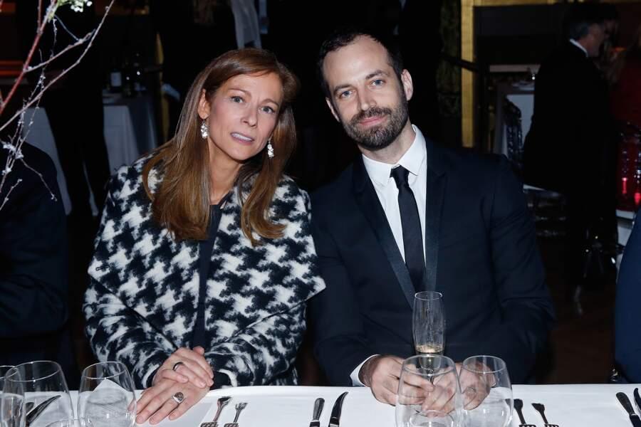 Anne Gravoin, la compagne du Premier ministre Manuel Valls, et Benjamin Millepied