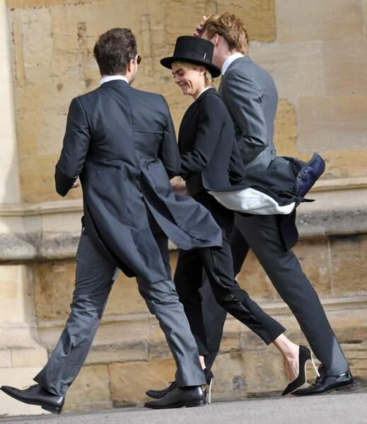 Cara Delevingne au mariage de la princesse Eugenie et Jack Brooksbank