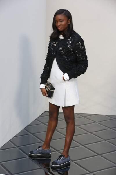 Défilé Chanel Haute Couture : l'actrice Karidja Touré (Bande de filles)