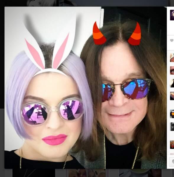 Pâques chez les Osbourne, Kelly et Ozzy en mode lapins sataniques