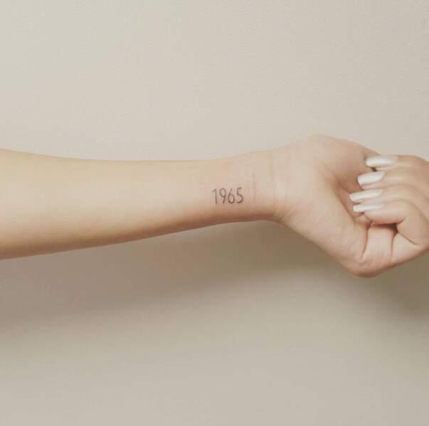 Tatouage poignet : date par @sweety_tatoo