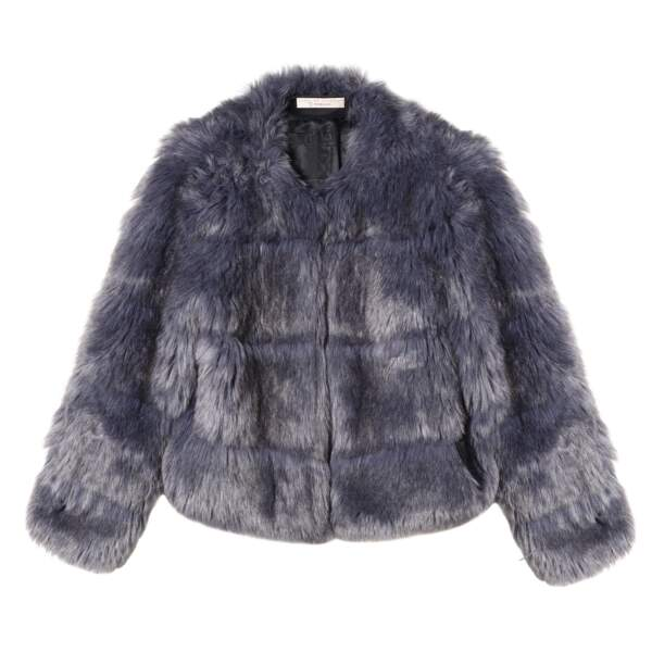 Caroline Receveur x Morgan : manteau effet fourrure, 200 euros
