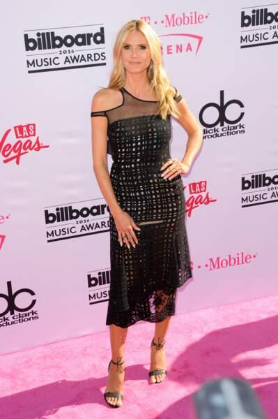 Billboard Music Awards 2016: Heidi Klum en Alfredo Villalba, Louboutin et bijoux Lorraine Schwartz