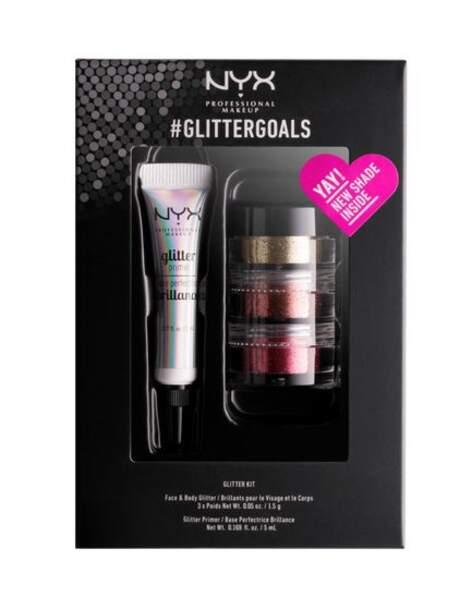 50 façons de briller : Kit GlitterGoals, NYX Professional, 17,90 euros