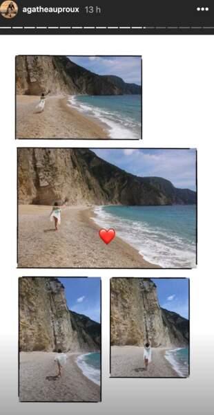 Agathe Auproux : ses vacances sexy en Grèce