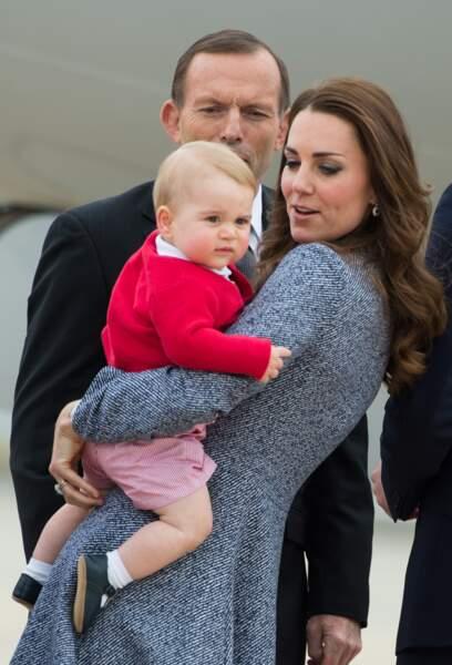 Anniversaire du Prince George - En avril 2014, Baby George fait son 1er voyage officiel