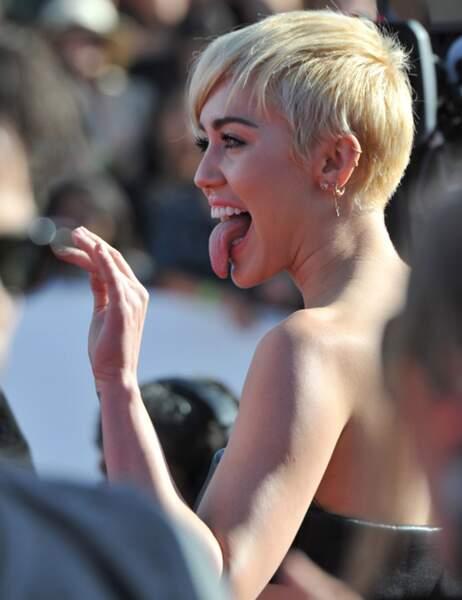 Miley Cyrus, toujours la langue bien pendue !