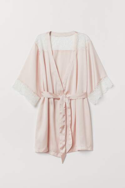 H&M - Peignoir satin, 24.99€