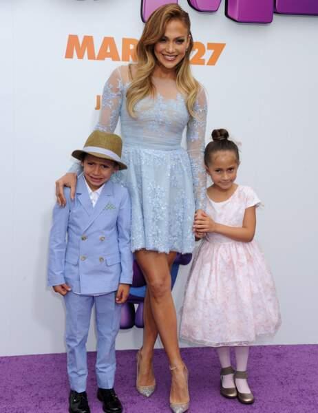 Jennifer Lopez et ses mini-moi (Maximilian David et Emme Maribel Anthony)