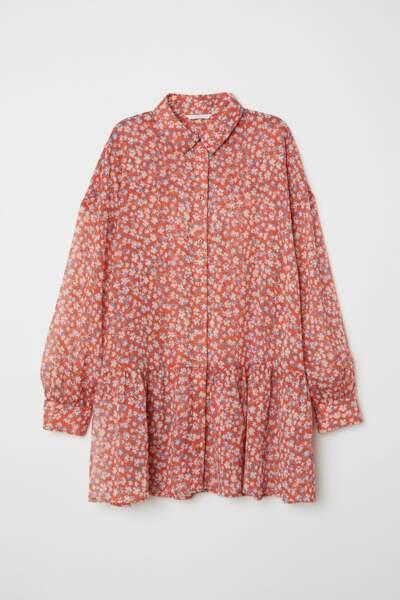 Blouse en mousseline à fleurs, H&M, 24,99 euros