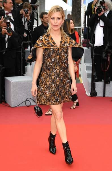 Marina Foïs comptait parmi les premiers arrivés sur le tapis rouge de Cannes