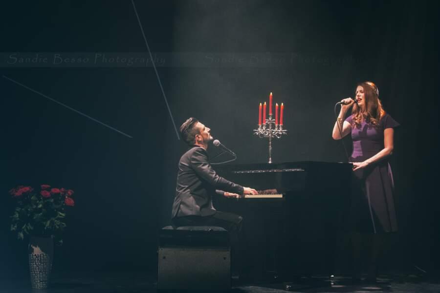Concert de Michal : le chanteur avec Elodie Frégé