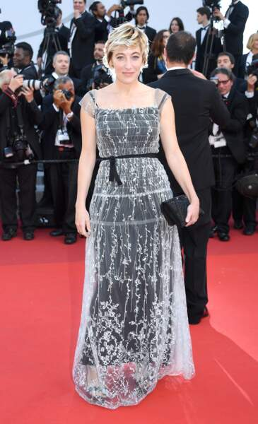 Cannes - Montée des Marches pour le 70ème anniversaire : Valeria Bruni Tedeschi
