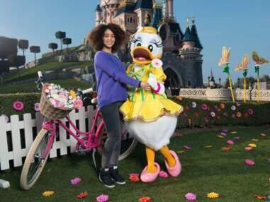 Mélissa Theuriau, Caroline Ithurbide et Nicolas Duvauchelle fêtent le retour du printemps à Disneyland Paris