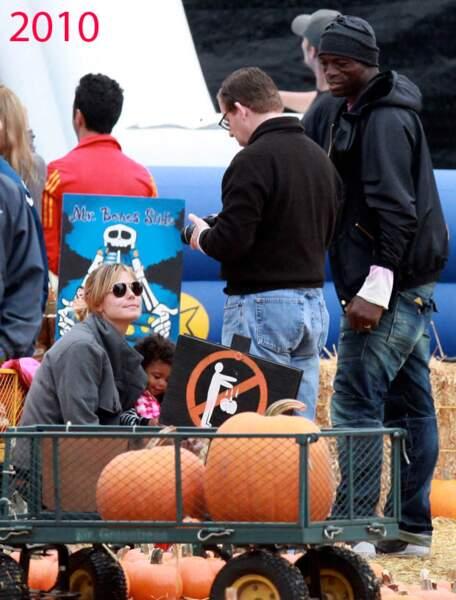Heidi Klum et Seal au Mr Bones pumpkin patch, en 2010