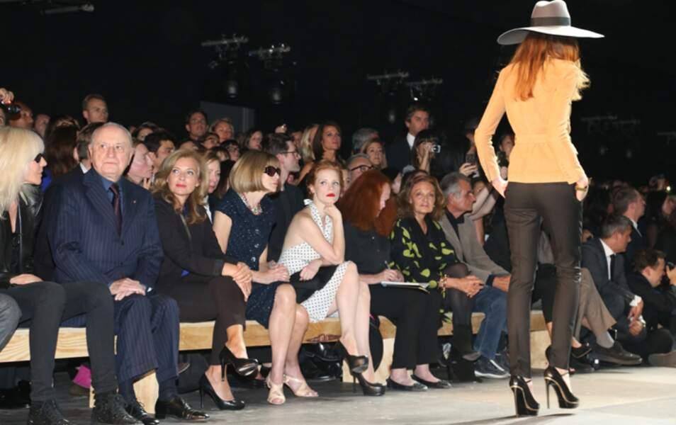 Pierre Bergé, Valérie Trierweiler, Anna Wintour et Jessica Chastain