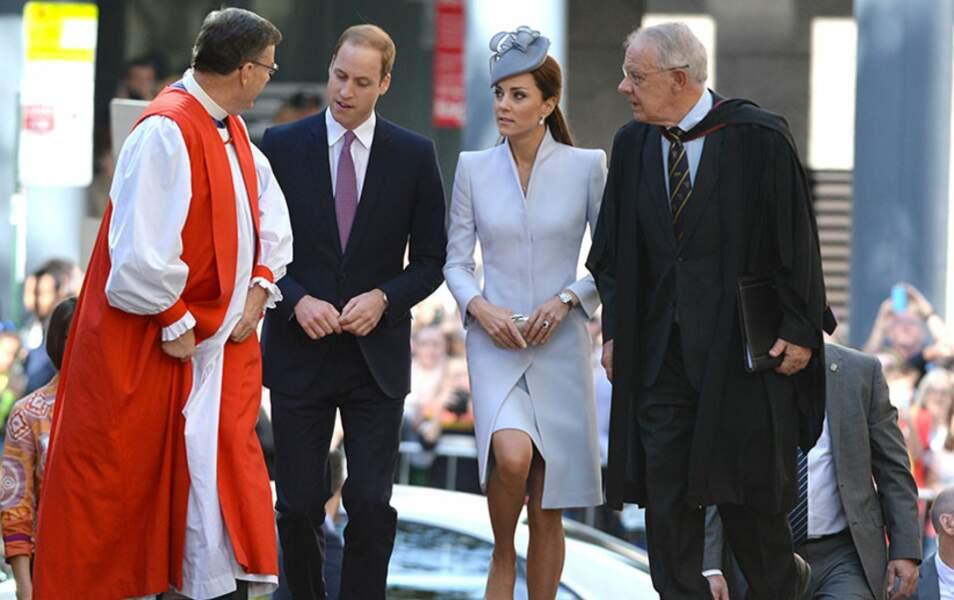 Le duc et la duchesse de Cambridge ont d'abord assisté à la messe de Pâques