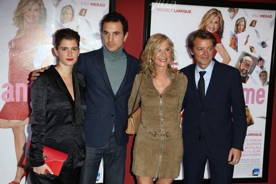 Oriane Deschamps, Boris Bergmann, Michèle Laroque et François Baroin à l'avant-première du film Brillantissime