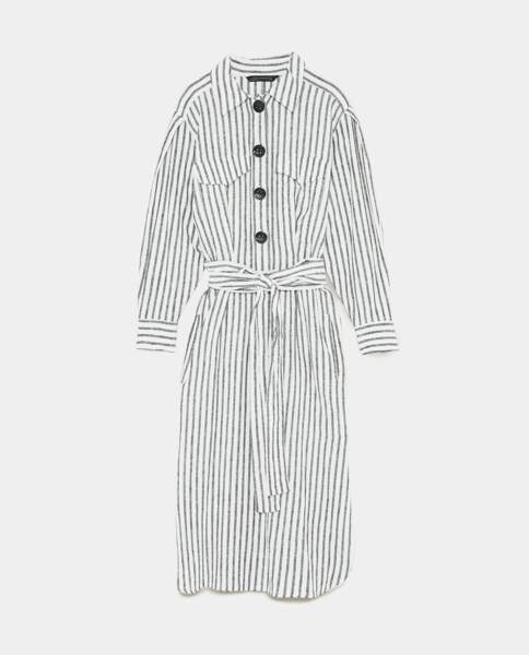 Robe à rayures et noeud, Zara, 49,95 euros
