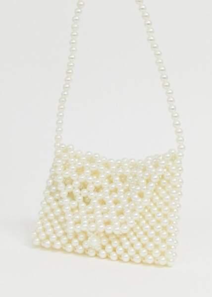 Sac en perles, Pieces sur Asos, 32,49€ au lieu de 40,99€