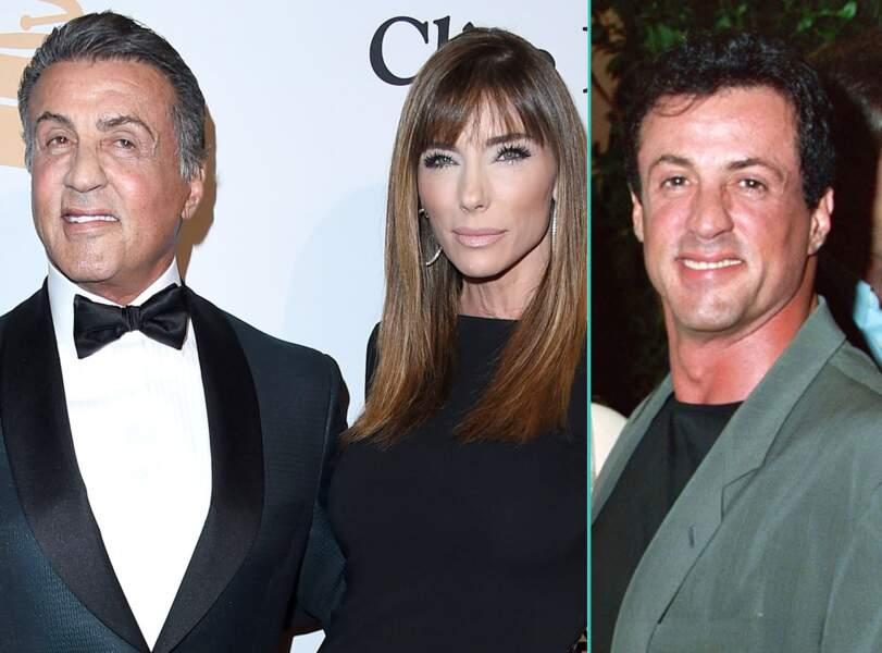 Sylvester Stallone aujourd'hui à 69 ans et à 47 ans, l'âge actuel de sa femme Jennifer Flavin