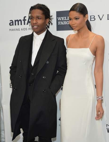 Le rappeur A$AP Rocky et Chanel Iman