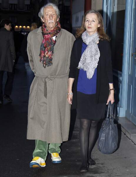 Jean Rochefort et Alexandra Mosava