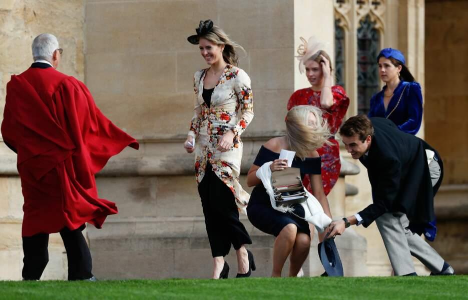 Les invités malmenés par le vent au mariage de la princesse Eugenie et Jack Brooksbank