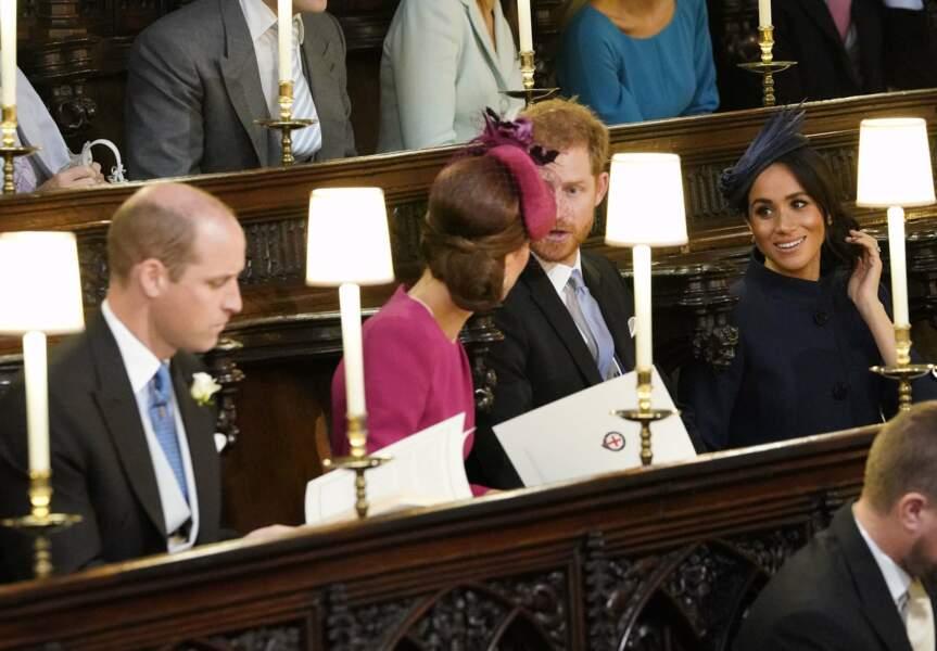 La famille royale au mariage de la princesse Eugenie et Jack Brooksbank