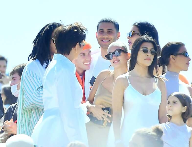 Pour cet événement, le rappeur a pu compter sur le soutien de sa compagne Kim, et du reste du clan Kardashian