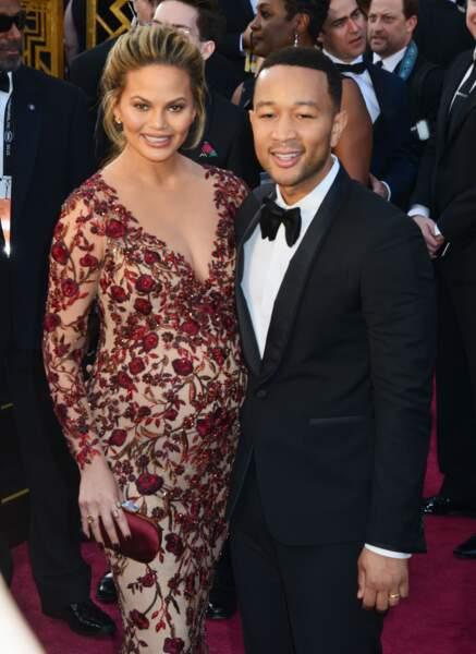 John Legend et sa femme enceinte Chrissy Teigen