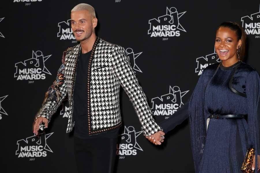 M Pokora et Christina Milian à Cannes lors des NRJ Music Awards
