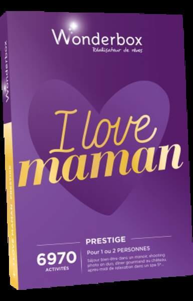 Coffret Wonderbox I love Maman Prestige : 119,90€
