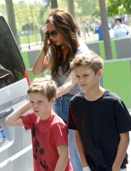 Victoria, Roméo et Cruz Beckham
