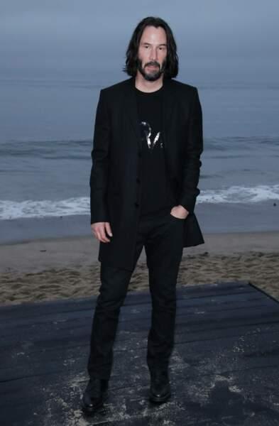 Keanu Reeves au défilé Saint Laurent à Malibu, jeudi 6 juin