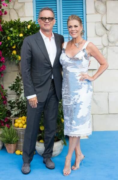 Tom Hanks à l'avant-première de Mamma Mia 2 à Londres, le 16 juillet