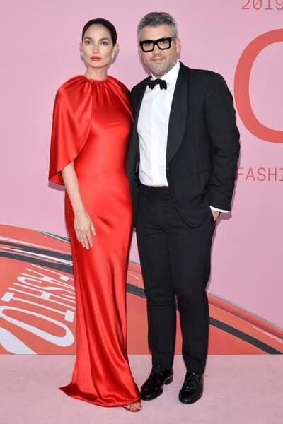 Lily Alridge et Brandon Maxwell