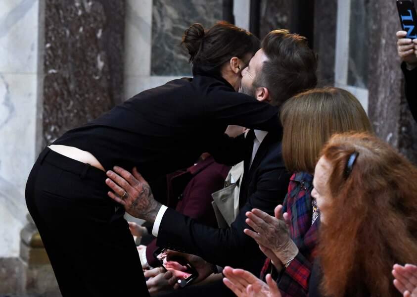 Victoria Beckham et sa famille à la fashion week de New York, le 11 février 2018