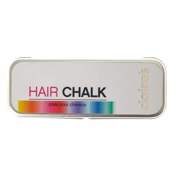 Craies de couleurs pastels pour les cheveux, Claire's, 16,99€