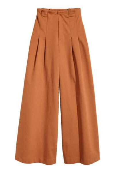 Pantalon large terracotta, H&M, 36,99 euros (en soldes)