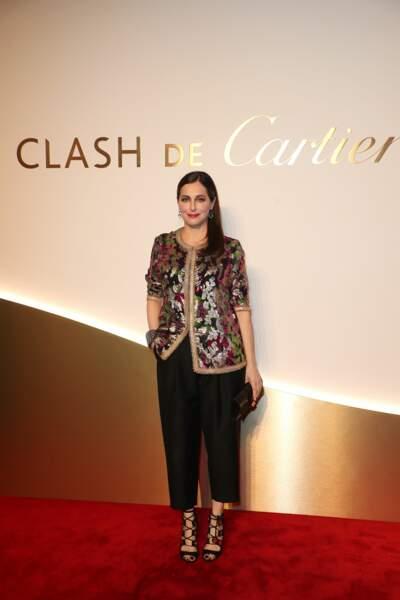 Amira Casar au dîner Cartier, le 10 avril 2019 à la Conciergerie de Paris