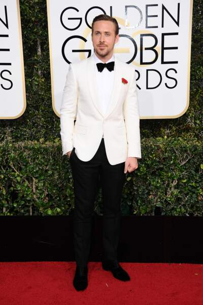 Golden Globes 2017 : Ryan Gosling en Gucci